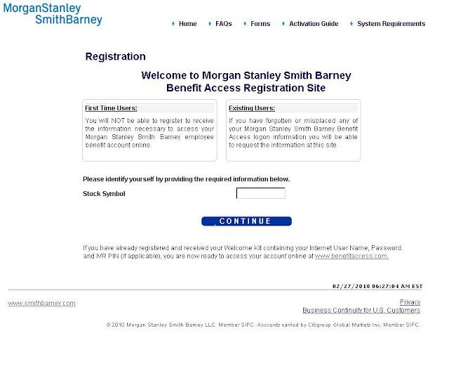 Morgan stanley stock options