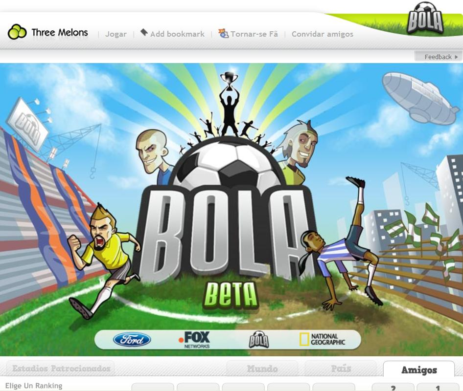 Novo jogo de apostas desportivas