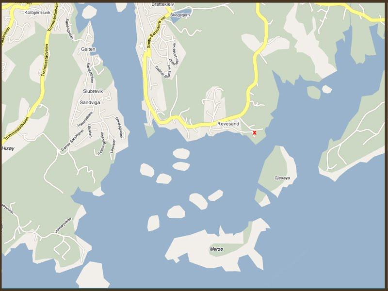 kart over hovefestivalen Sørlandshytte i Revesand på Tromøy ved Arendal: Kløckerstua  kart over hovefestivalen