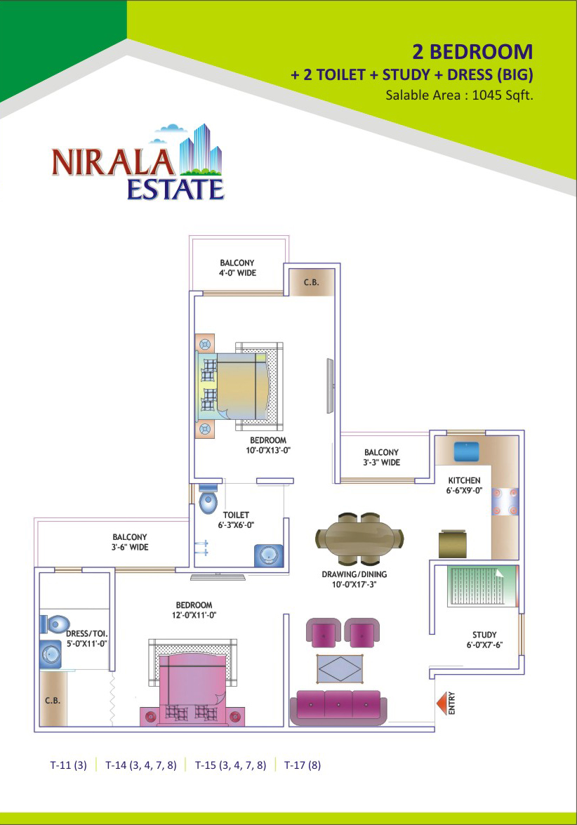 1045-sq.ft.-2bhk-study-floor-plan