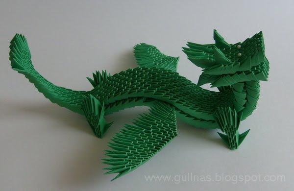 gulnas 39 kunstblog drache 3d modulares origami. Black Bedroom Furniture Sets. Home Design Ideas