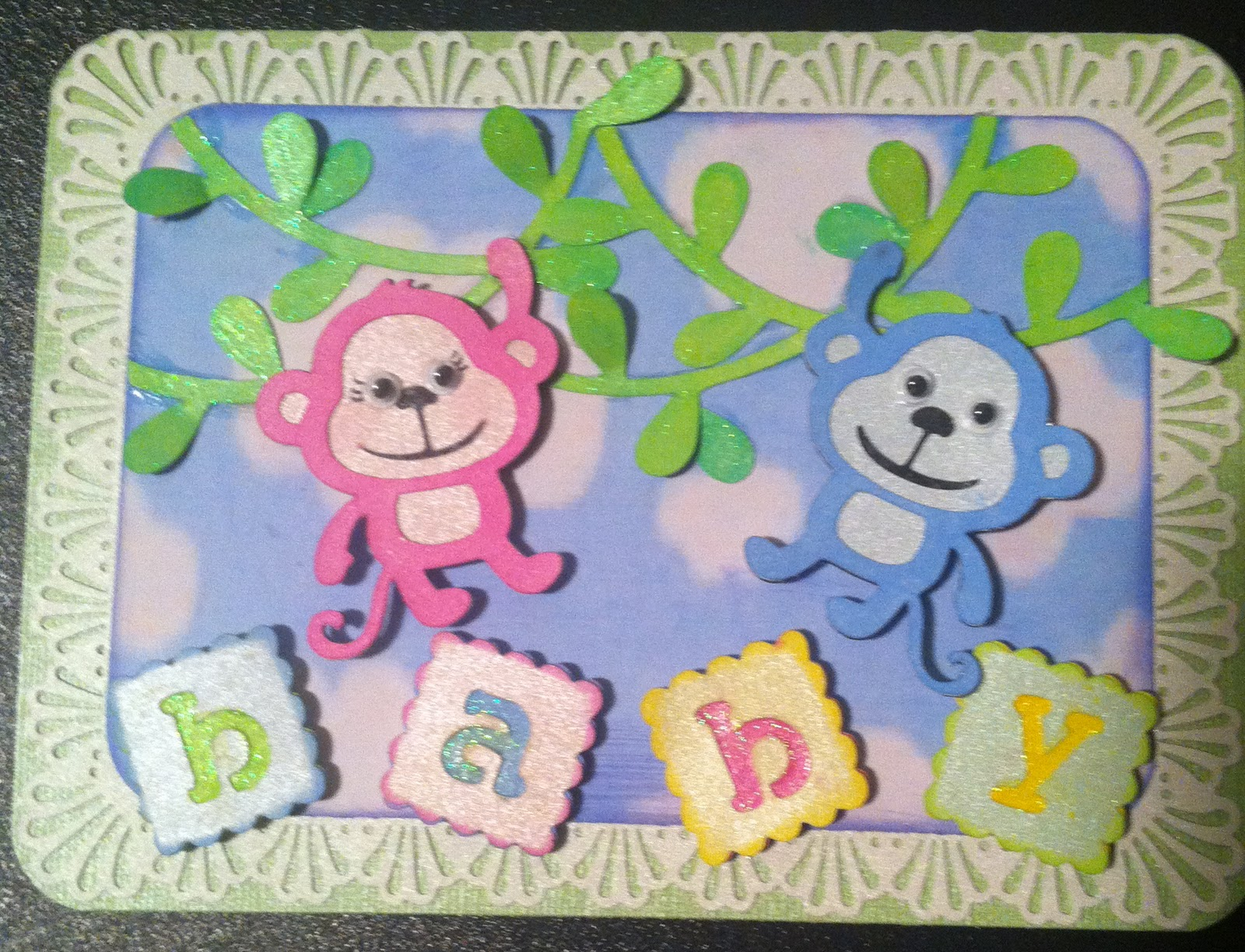 Christa's Creations: Monkey Baby Card