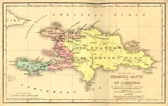 Resultado de imagen para division de la isla en los tiempos de la colonia