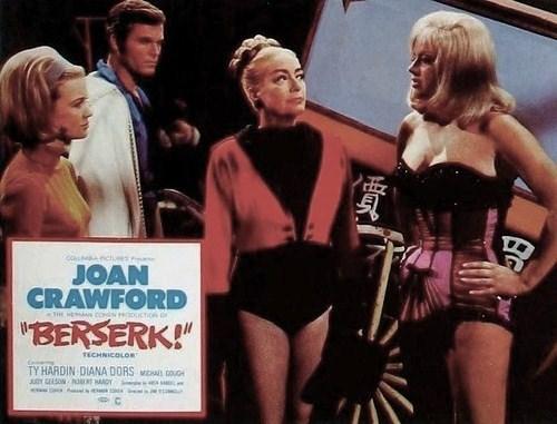 Image result for joan crawford and diana dors in berserk