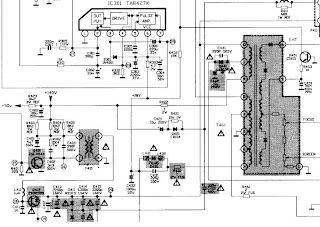 Panasonic Schematic Diagram Circuit CQ C7413u Power Supply