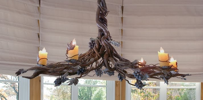 Potter Art Metal Studios Graceful Vine Chandelier