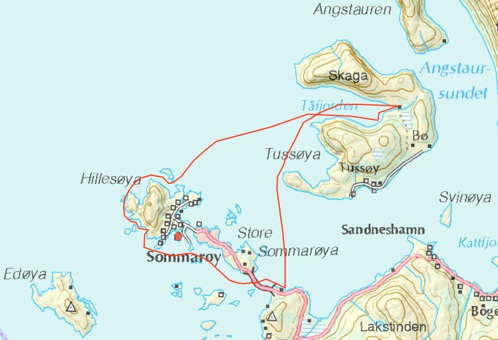 sommerøya kart Toppturmania: Padling på Kvaløyas yttersia: Tåfjorden på Tussøya  sommerøya kart