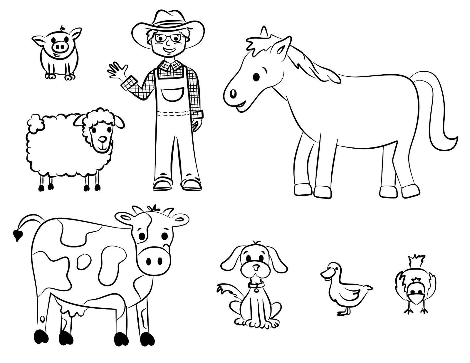 old mcdonald coloring pages - photo#4