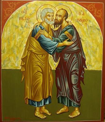 Απόστολοι Πέτρος και Παύλος - Λυδία Γουριώτη© (http://lydiagourioti-iconography.blogspot.com)