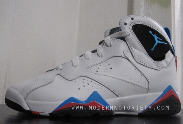 best sneakers 9dbb1 7e86d Air Jordan VII 7 (GS)White Orion Blue Spring 2011 Sample   Jaycollector.com