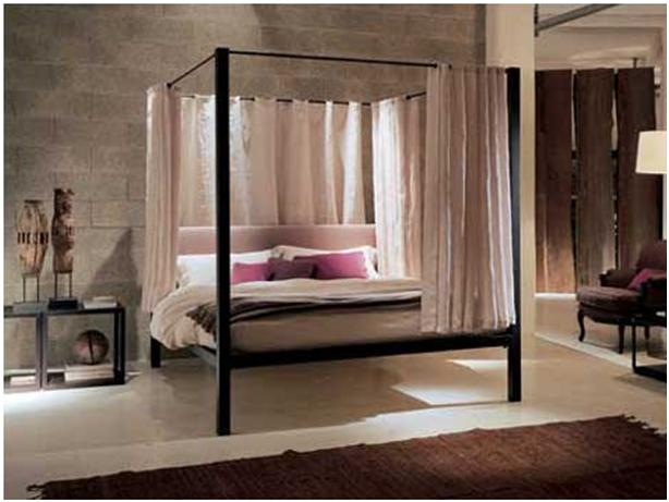 Decoracion dise o 5 estupendas camas matrimoniales con dosel - Cama dosel madera ...