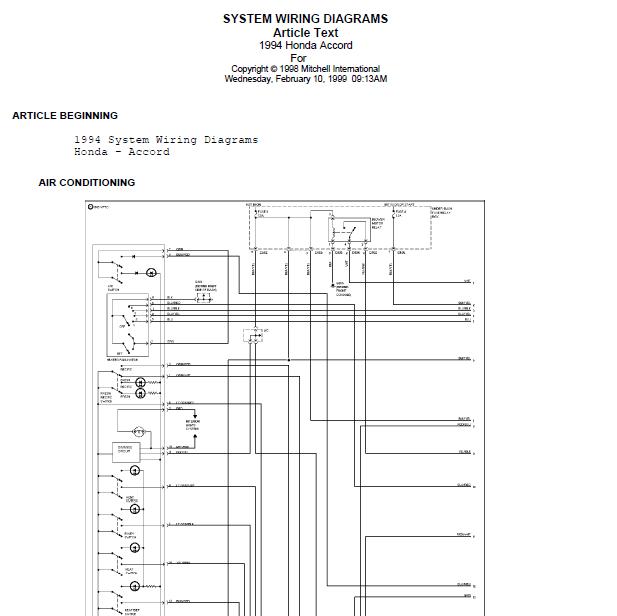 repairmanuals: 1996 Honda Accord Wire Diagrams