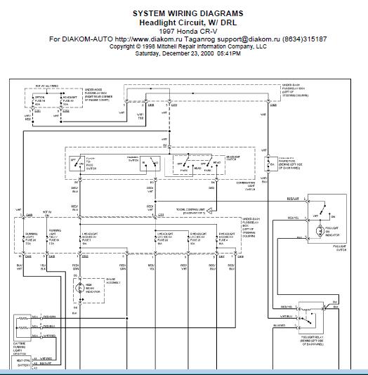repairmanuals: 1997 Honda CRV Wiring Diagram