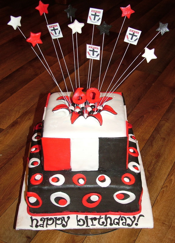 A Piece Of Cake Two Tiered St Kilda Football Cake