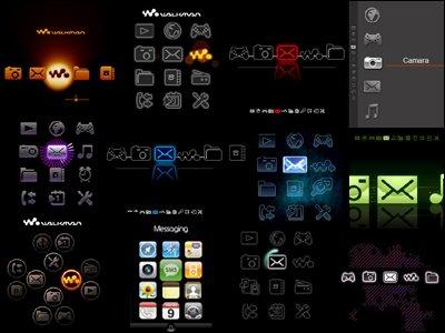 menus flash para w580i