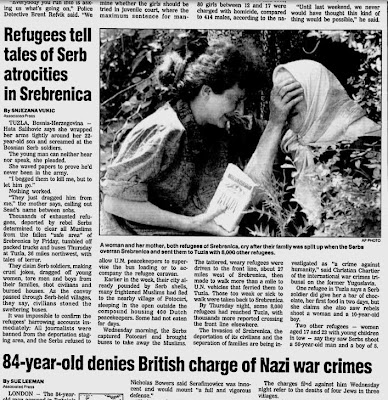 Srebrenica Genocide Blog: FIRST REPORTS OF EXECUTIONS IN ...