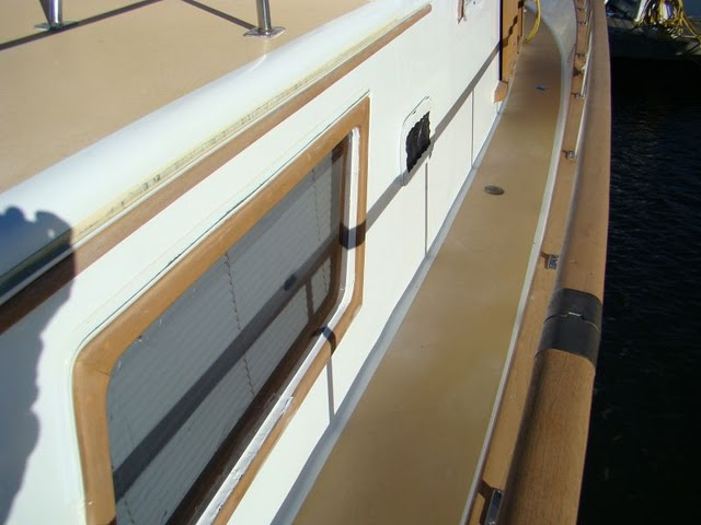 The Trawler Beach House: Leaking Window Repair Update