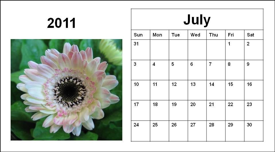 june july calendar 2011 - photo #29