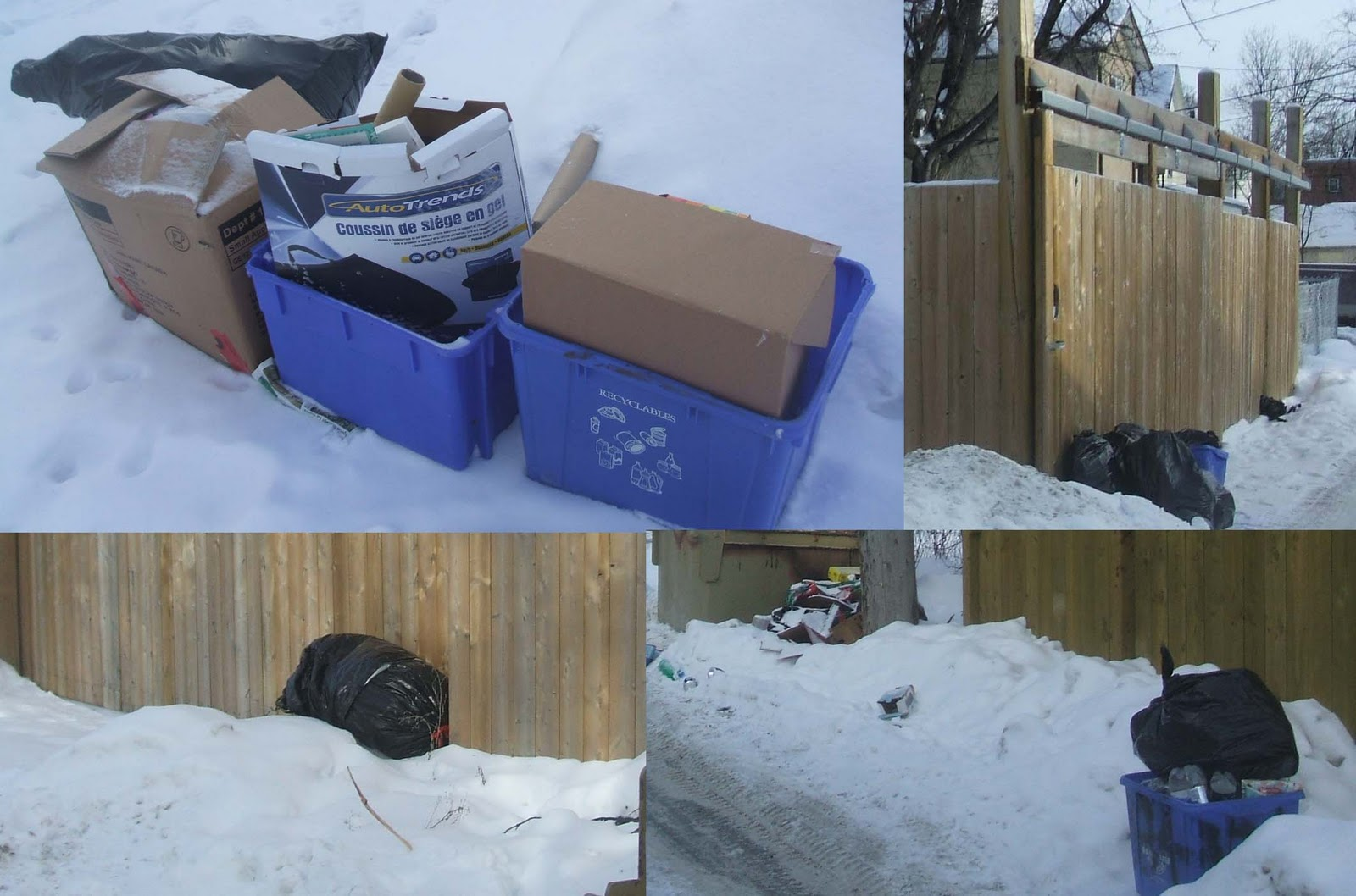 A Day In The Hood: Thursday is Garbage Day, Even After Christmas