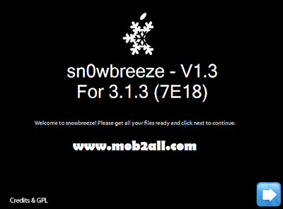 Jailbreak and unlock iPhone 2G, 3G and 3GS with OS 3.1.3 using sn0wbreeze v1.3بالصور