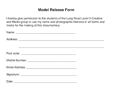 L rundle photography model release form for Standard model release form template