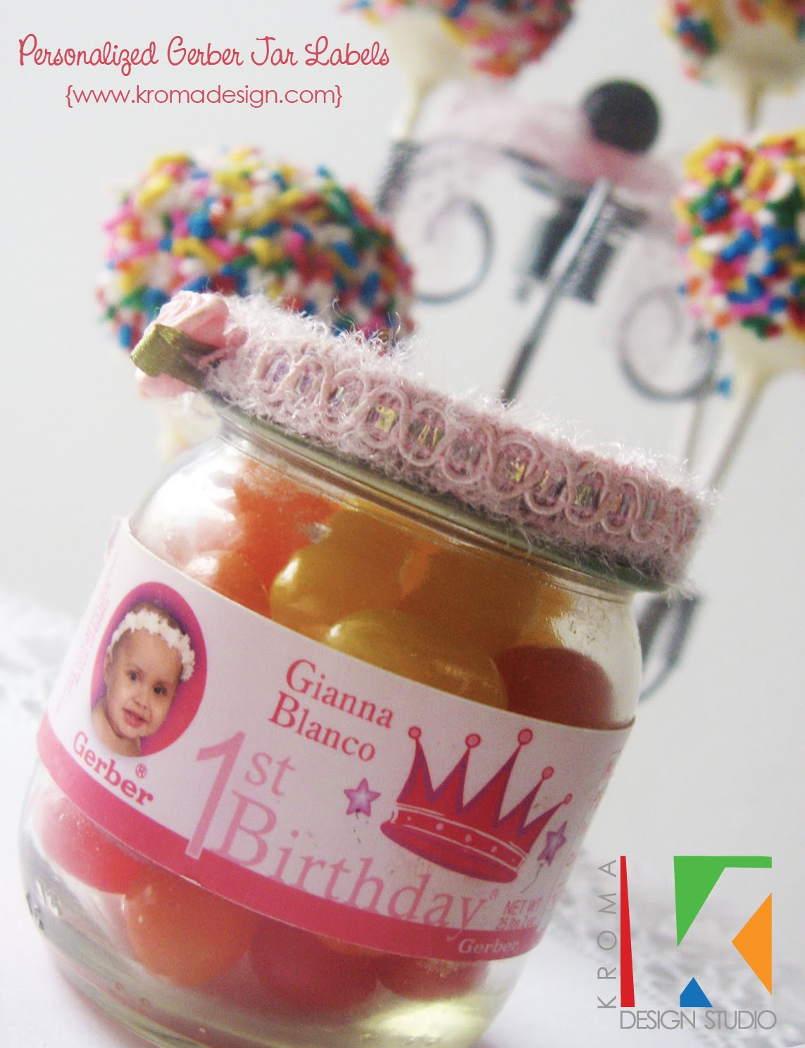 Personalized Baby Food Jar Labels