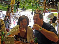 Enjoying tequila shots in Mexico