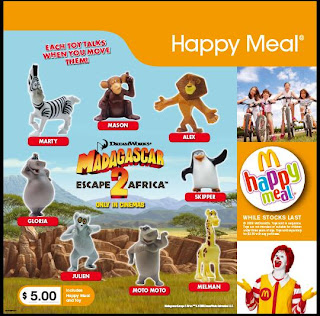 McDonalds Madagascar Escape 2 Africa Toy Promotion
