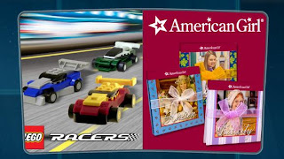 McDonalds American Girl and Lego Racers happy meal toys promotion 2009