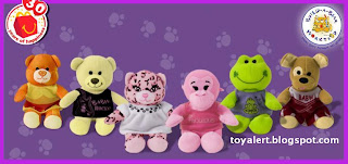 McDonalds Build-A-Bear Workshop happy meal toy set of 6 plush toys - Autumn Bear, A Champion Fur Kids Bear, Brown Sugar Puppy,Hugs For You Monkey,Happy Go Lucky Frog, Pawfect Pink Leopard,