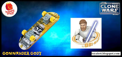 McDonalds Star Wars - The Clone Wars Happy Meal Toys 2010 - Commander Cody Mini Skateboard or Fingerboard