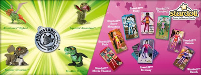 Burger King Prehistoric Pets and Stardoll kids meal toys promotion -