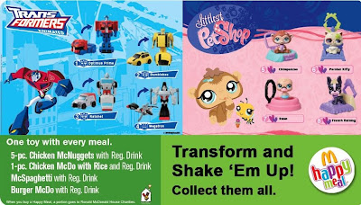 McDonalds Transformers Animated and Littlest Pet Shop 2010 - Philippines Promotion