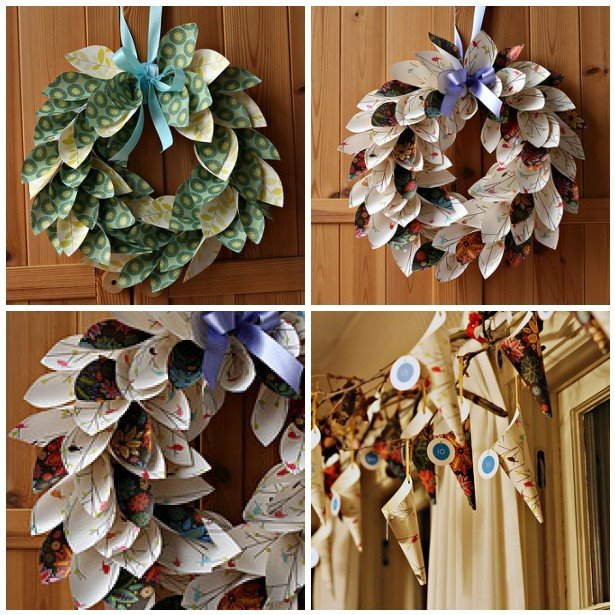 Creative Wreath Ideas: Creative Ideas For You: DIY Paper Wreath