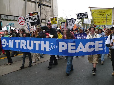 Photo of 9/11 Truth for Peace Protest 2008