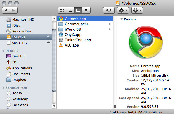 Relocating Chrome's cache to a SSD in OSX - YCPTECH