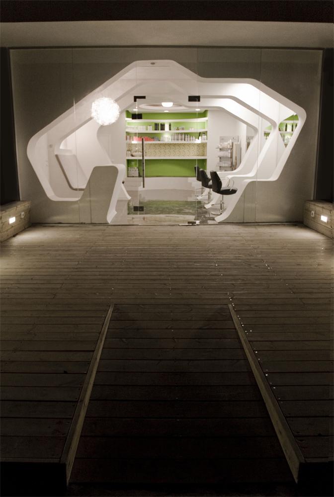 Futuristic Barbershop Interior Design Israel Most