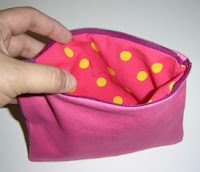 Lined Zippered pouch