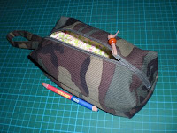 Lined Zippered Boxy Pouch