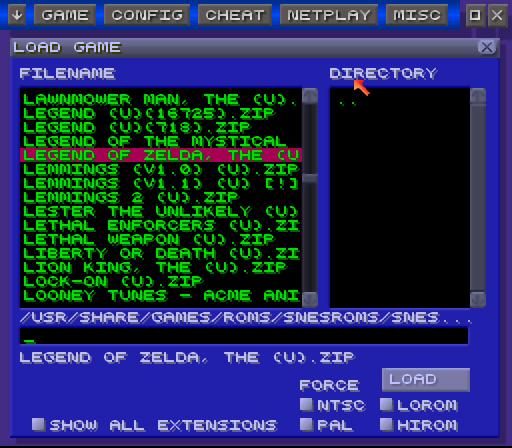 Emulador Super Nintendo (ZSNES) 845 Jogos