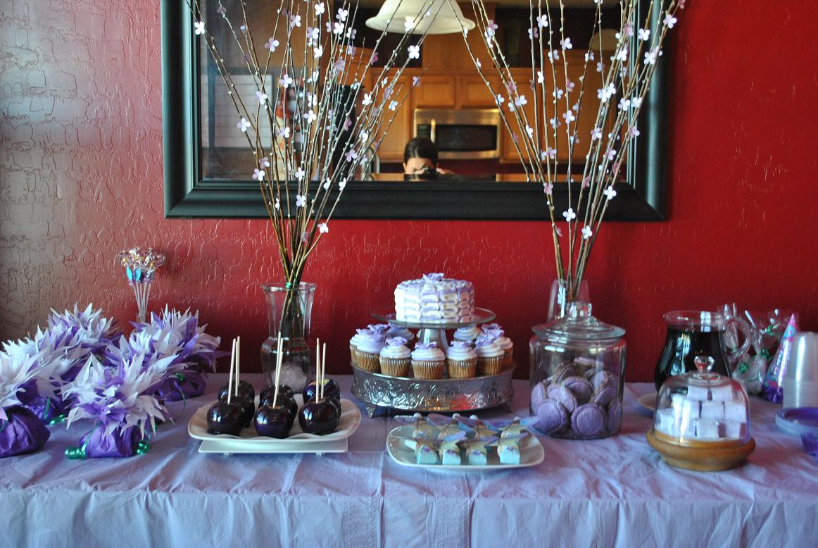 Frayed And Fancy Purple Dessert Table