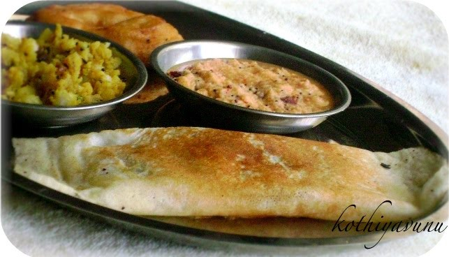 Masala Dosa Recipe - South Indian Breakfast   Indian Style ...