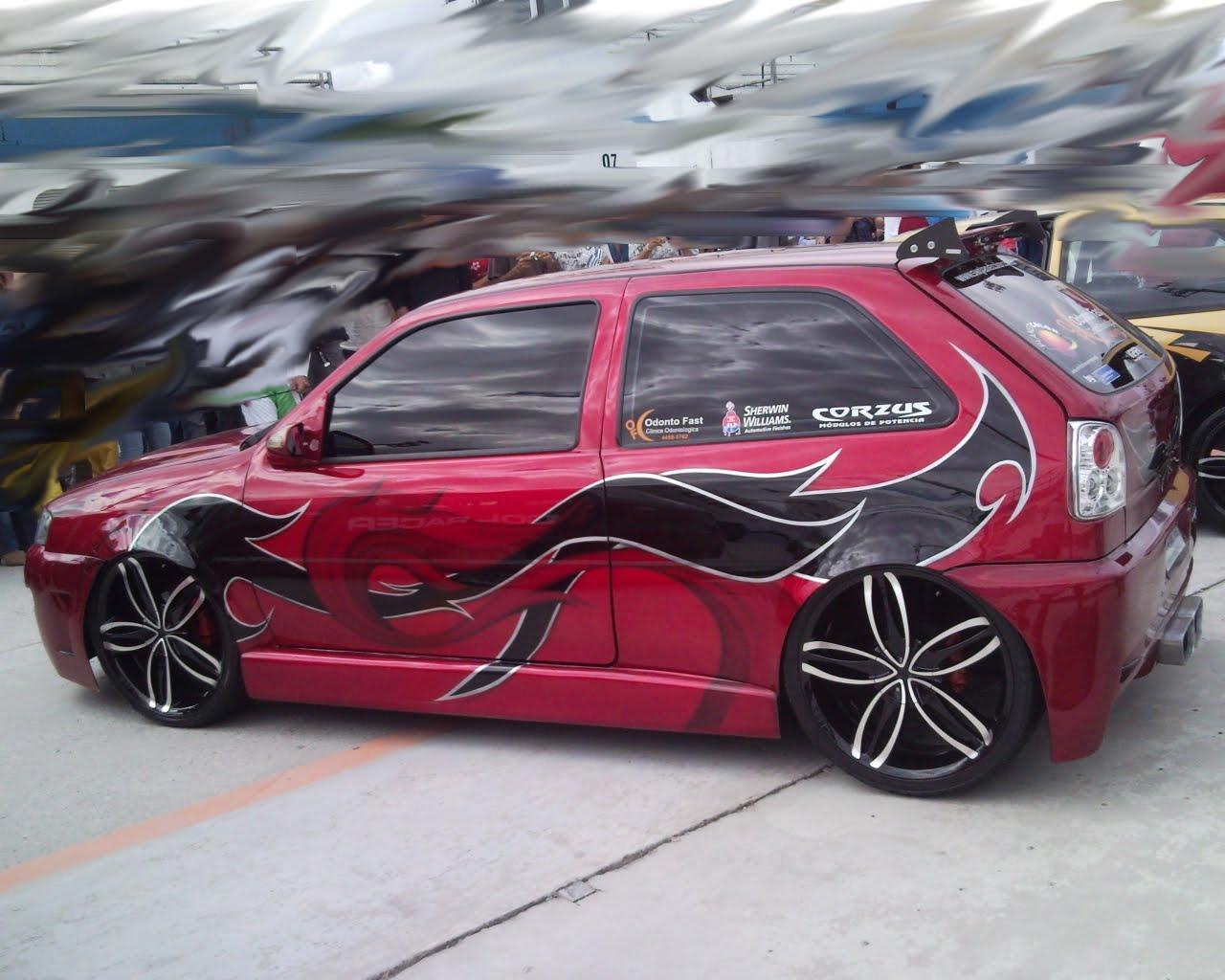 Volkswagen Gol Bolinha Tunado Som E Rodas Rebaixado