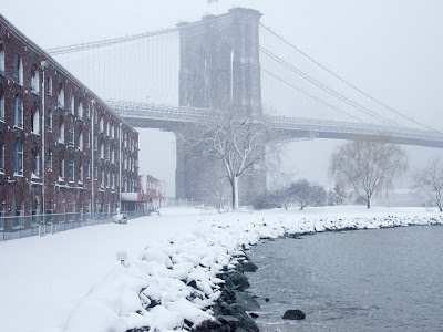 winter day on brooklyn bridge