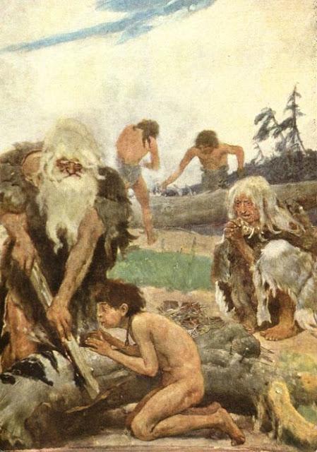 Открытка о каменном веке, игорю