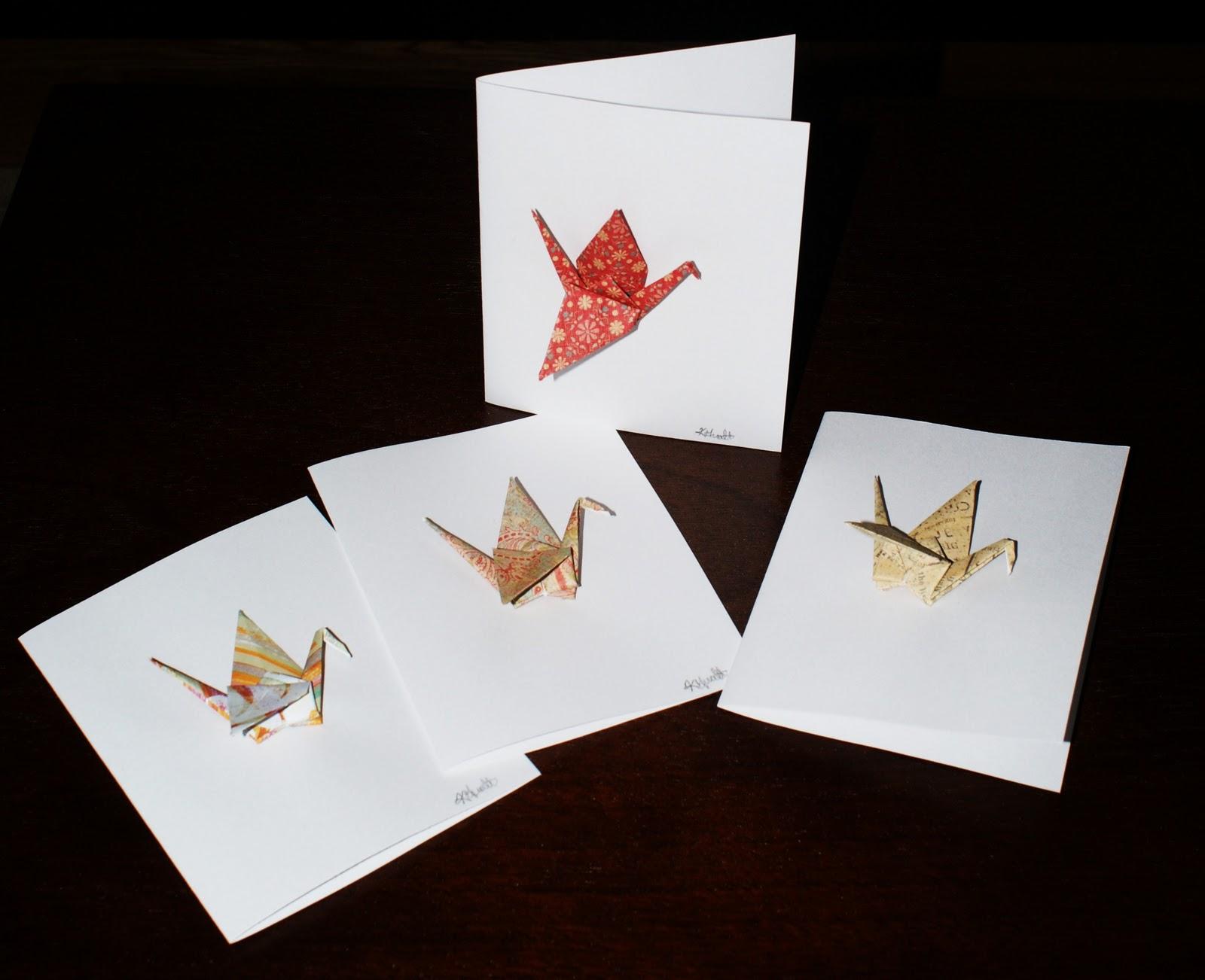 The Origami Crane Card открытка журавлик - YouTube | 1302x1600