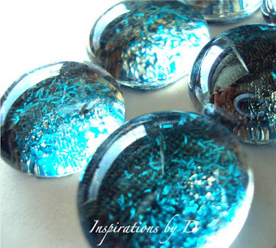 Glass Push Pins with Sparkles