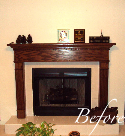 How to Re-Paint Oak Mantel