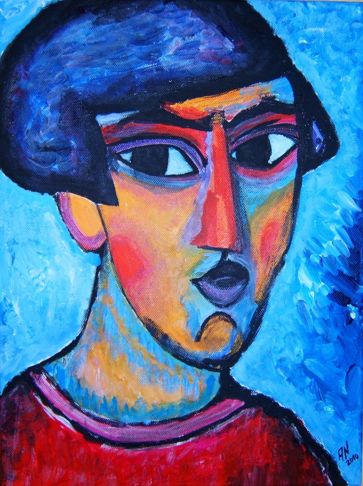 Leinwand 30x40 Expressionen 2010 Quotfaces Jawlensky 03 Quot Acryl Auf