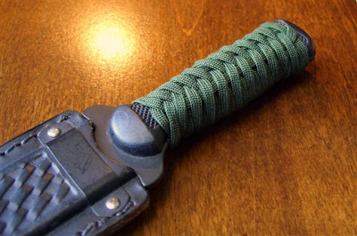 Stormdrane's Blog: Paracord grip wrap on a boot knife
